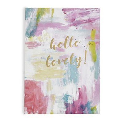 Graham & Brown-Pink Hello Lovely Printed Canvas - £10 at Debenhams (£2 C+C)