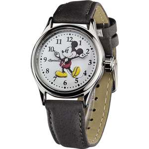 Disney by Ingersoll Ladies Classic Mickey Mouse Grey Nubuck Strap Watch 25570 reduced from £69.99 now £29 delivered @ watches2u