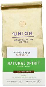 Union Organic Hand Roasted Natural Spirit Blend Ground Coffee 200 g (Pack of 6) - £7.21 Prime / £11.96 non Prime @ Amazon