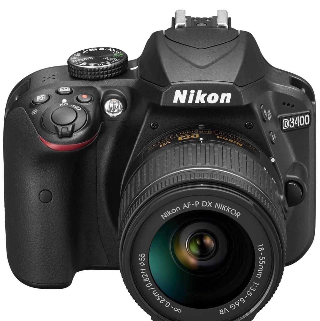 Nikon D3400 AF-P 18-55VR Digital SLR Camera & Lens Kit Black - £329.99 with £100 off promo @ Amazon & Free Delivery