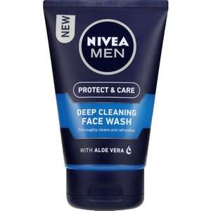 Nivea Men Deep Cleansing Face Wash, 100 ml - Pack of 3 for £4.50 delivered with Prime (Prime customers only) at Amazon