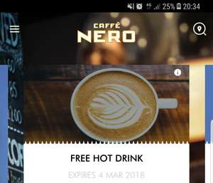 Free hot drink at Caffe Nero using code