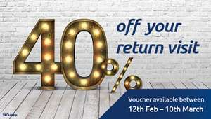 Odeon 40% off return visits until 15th March