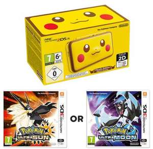 Nintendo 2DS XL Pikachu Edition & Pokemon Ultra Sun or Moon £159.99 @ Smyths