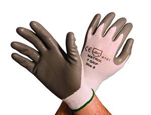Polyco Matrix F Grip Grey Glove, Size 8  Dispatched from and sold by Amazon.