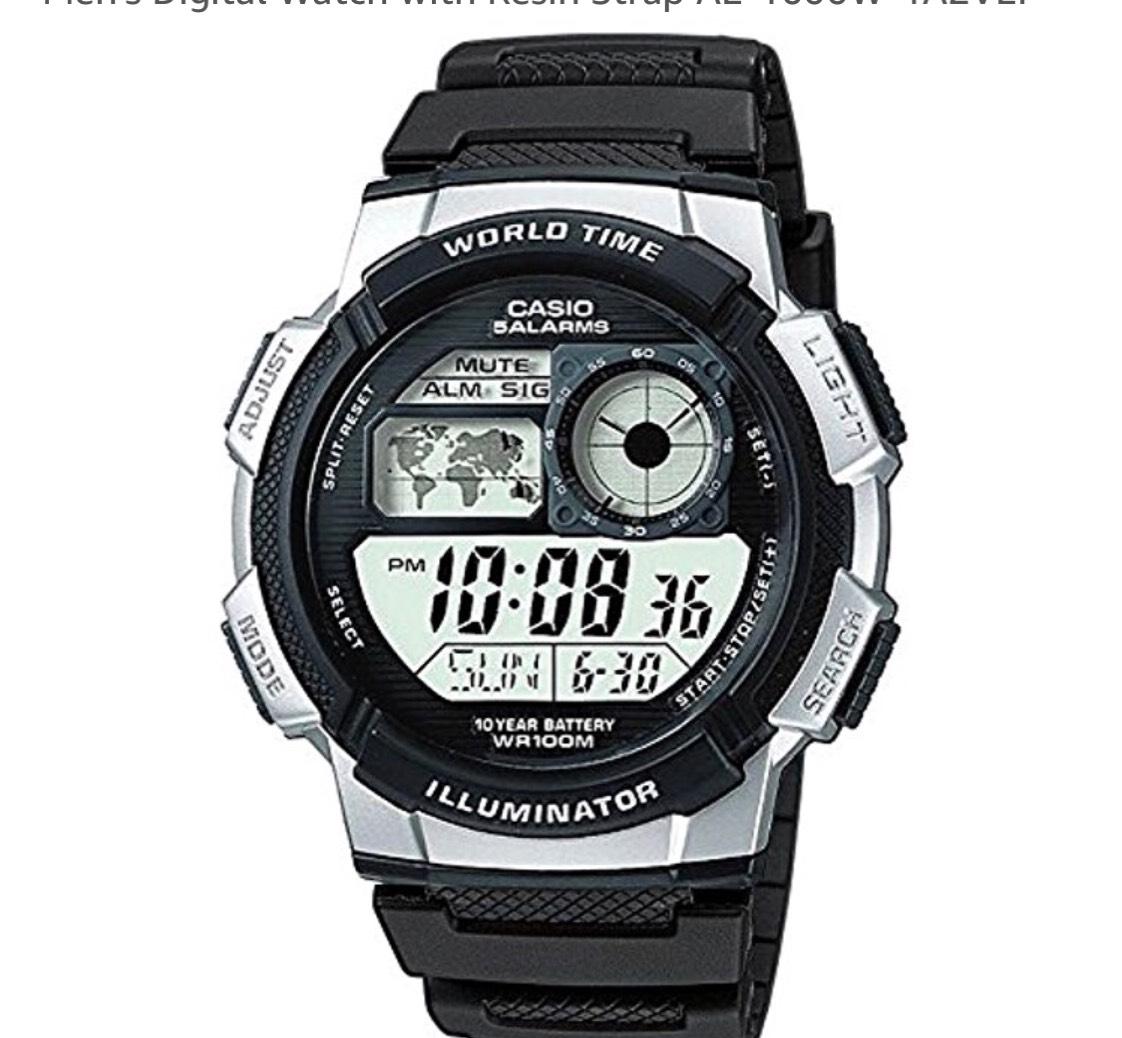 Casio Men's Digital Watch with Resin Strap AE-1000W-1A2VEF £15.99 (Prime) / £19.98 (non Prime) at Amazon