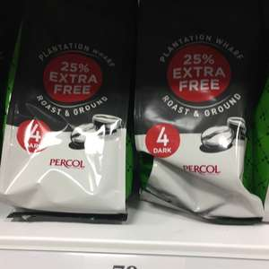 Plantation wharf ground coffee 79p for 188 gram bags instore at home bargains (made by percol)