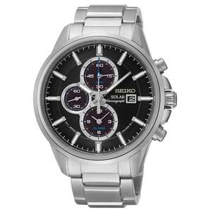 Seiko Men's Stainless Steel Chronograph Powered by Solar Energy Bracelet Watch £179.99 	H Samuel