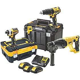 DEWALT DCK440L3T 18V 3AH LI-ION XR BRUSHLESS CORDLESS 4 PIECE KIT - £399.99 at Screwfix