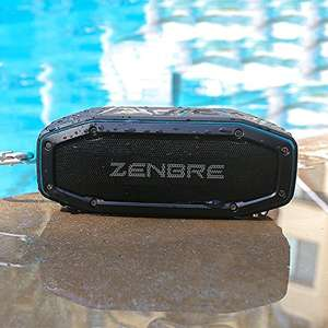 Waterproof bluetooth speaker - Blue £12.59 Prime / £16.58 Non Prime @ Amazon (Sold by ZENBRE Direct EU and Fulfilled by Amazon)