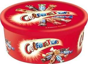 Celebrations chocolate tub 680g for £3.99 in Iceland stores