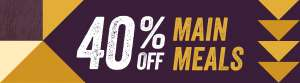 40% off main meals @ Brewers Fayre - Check Emails