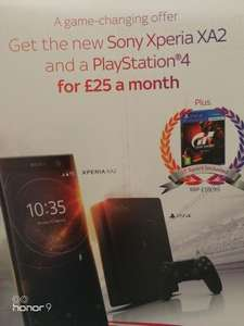 Sony Xperia XA2 and PS4 for £25 month on Swap 24month plan £600 @ Sky