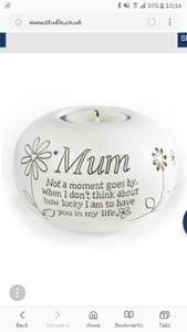 Mum Tealight Candle at Studio £4.99 / £9.98 delivered @ Studio