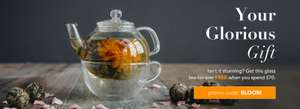 Free Peking Glass Teapot for One RRP £20.00 when you Spend £70 use Code BLOOM @ Whittard of Chelsea