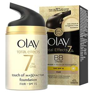 Olay Total Effects Anti-Ageing 7-in-1 BB Cream SPF15 50ml for Fair / Medium Shades £6 Prime / £9.99 Non Prime / £5.70 S+S @ Amazon