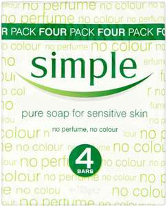 Simple Soap 4 Pack Half Price £1.25 at Tesco