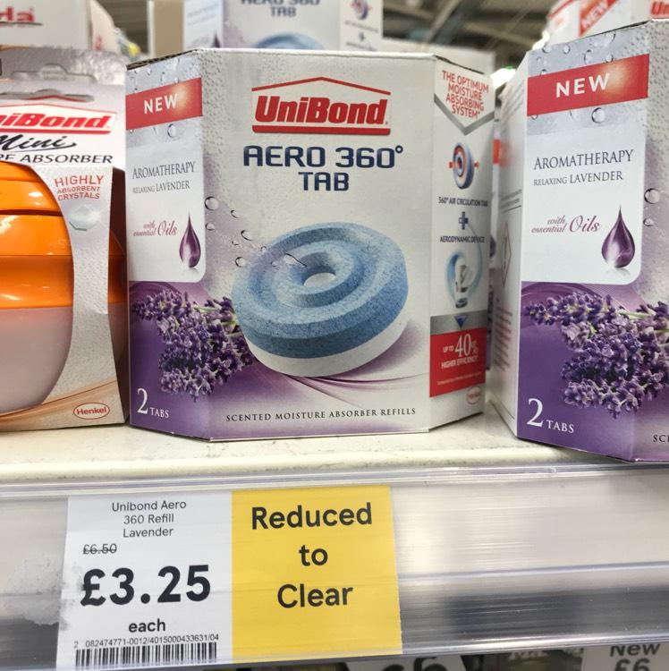 Unibond 360 Aero lavender refills £3.25 @ Tesco  - springhill Birmingham
