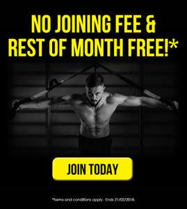 SportsDirect Gym no joining fee and rest of month free.
