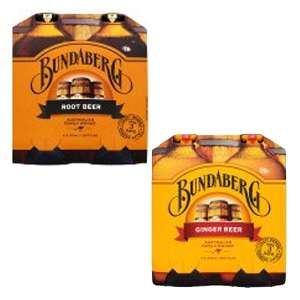 Bundaberg Rootbeer or Ginger Beer 4 pack (375ml bottles) £2.50 @ ASDA - Works out 63p per bottle