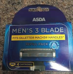 Asda razor blades comparable with Gillette Mach 3 £4 @ asda