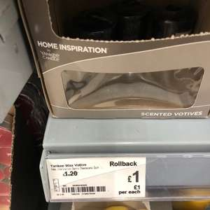 Yankee Home Inspirateions wax votive Blueberry and cheesecake candle £1 instore and online  @ ASDA