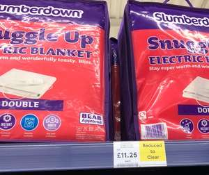 Slumberdown electric blanket double @ Tesco instore - £11.25