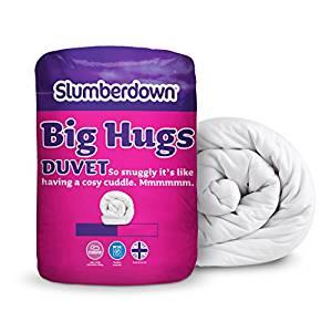 Slumberdown Big Hugs 10.5 Tog Duvet, White (King Size / Double bed) - was £21.99 now £9 (Prime) £13.75 (Non Prime) @ Amazon