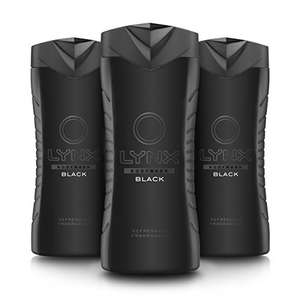 Lynx Black Shower Gel 400 ml - Pack of 3 plus 20% voucher @ Amazon (Prime Exclusive)