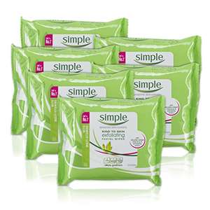 Simple Kind to Skin Exfoliating Facial Wipes 25 Pieces - Pack of 6 (150 Wipes) £9 plus 20% discount voucher for S&S (£4.75 del for non Prime)