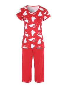 Women's red polar bear pyjamas sizes 10-12, 18-20 now £3 @ peacocks