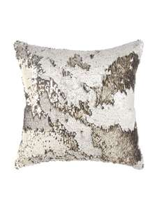 Gold OR white sequin flip cushion £4 @ peacocks
