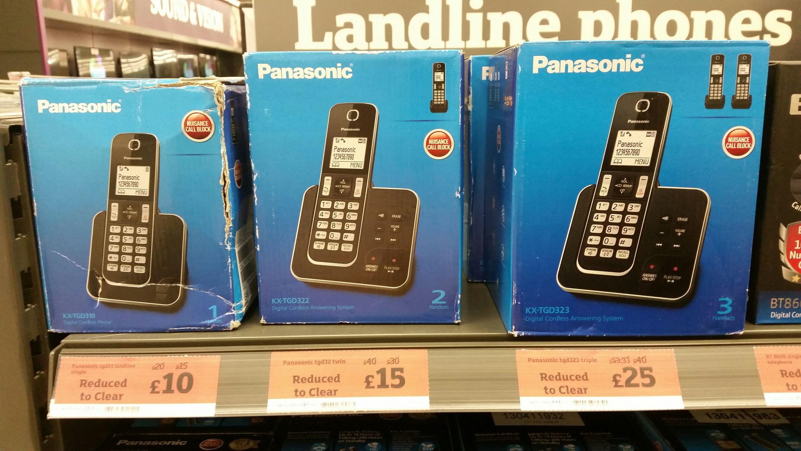 Panasonic KX-TGD310 cordless phone with answering machine now £10 @ Sainsbury's
