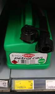 Carplan Unleaded Fuel Can Half Price @ £2 Instore ASDA