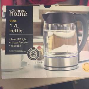 George Home 1.7L Glass Kettle £20 instore & online @ Asda