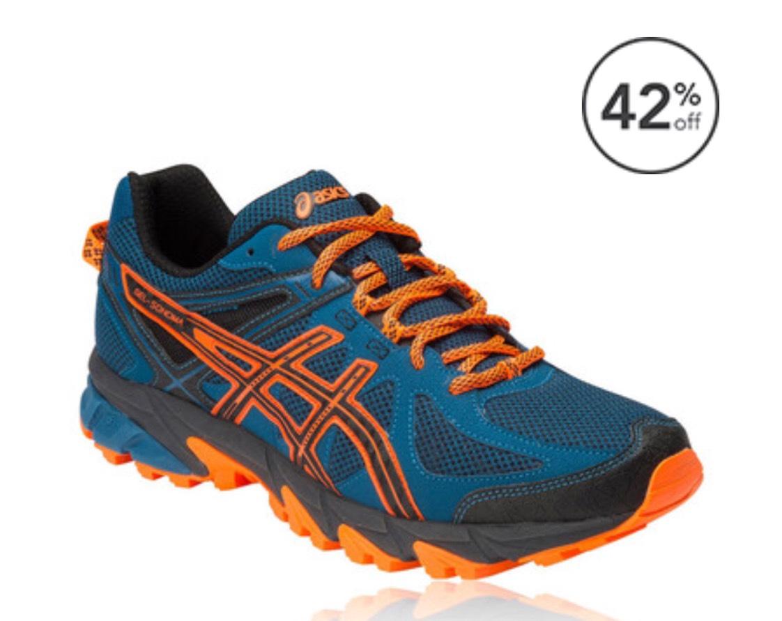 ASICS GEL-SONOMA TRAIL RUNNING SHOES £39.99 p&p £4.99 @ SportsShoes
