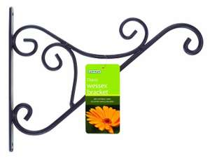 Gardman 16-inch/(40cm) Wessex Round Steel Classic Hanging Basket Bracket for £3.99 + £4.99 (P&P) @ Selections.com