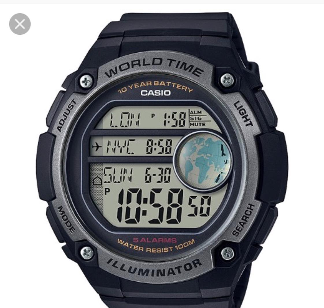 Casio Men's World Time Digital Watch , free c&c £22.49  at Argos