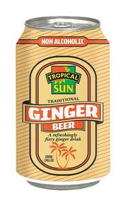 Tropical Sun Ginger Beer 330ml can - 4 for £1 - Asda Trafford Park & Asda Online