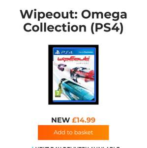 Wipeout PS4 £14.99 at Grainger Games