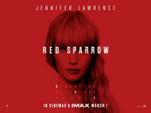 FREE - see jennifer lawrence in red sparrow movie - cinemas all over britain on 28 Feb 2018  - sun offer