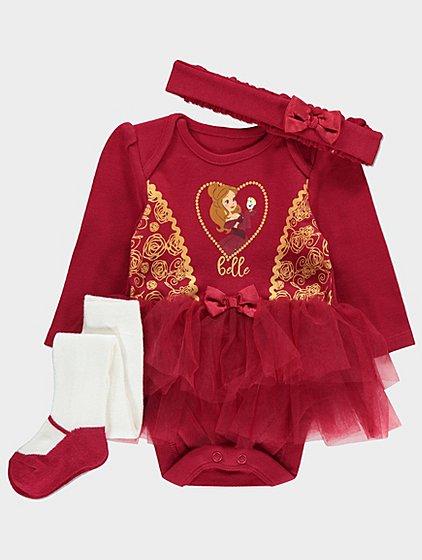 Disney princess 3 piece belle tutu set 12-18 months £5 @ asdageorge