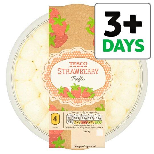 Tesco Strawberry Trifle 600G £1.25