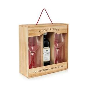 Wine Port Whisky - Wine and glass set - 2.26kg + £2 click and collect or £3.49 Delivered at Debenhams