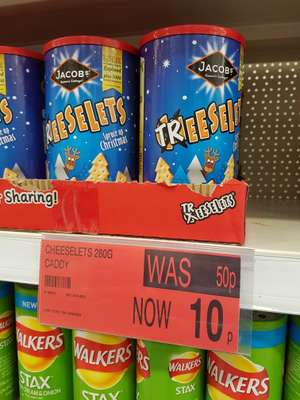 Cheeselets Christmas packaging 10p at B&M instore