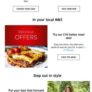 Italian meal for 2 in Marks & Spencer £10