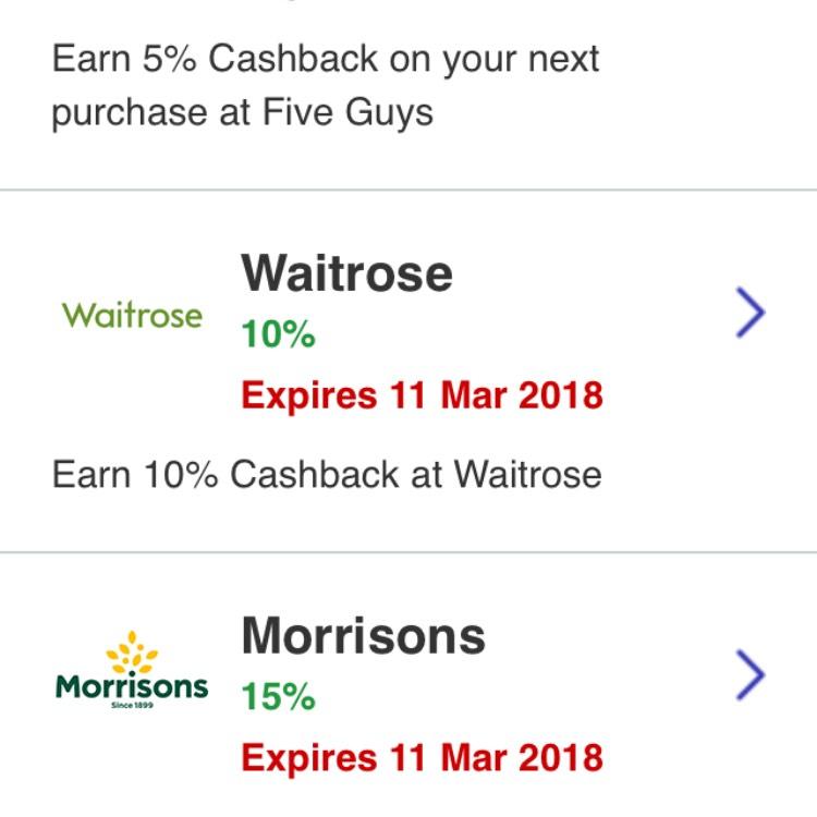 Halifax Reward Account Supermarket Cashback