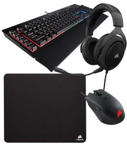 Corsair Gaming Bundle - K55 RGB Keyboard / Harpoon RGB Mouse / HS50 Stereo Headset / MM100 Mouse Pad £99.99 @ Box