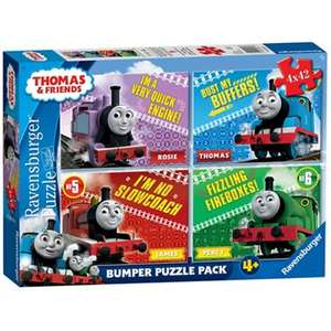 Thomas & Friends - 4 x 42pc Jigsaw Puzzle Bumper Pack (Ravensburger) £3.60 + £2 click and collect or £3.49 Delivered at Debenhams