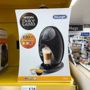 DeLonghi Jovia Black Dolce Gusto Coffee machine £28 instore at Tesco